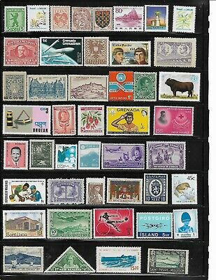 89 different mint Worldwide stamps.
