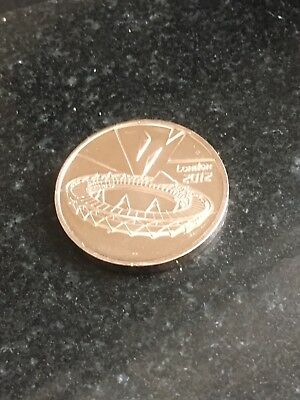 RARE London Olympic 2012 50p Royal Mint Genuine 1st Edition Completer  Medal 1/2