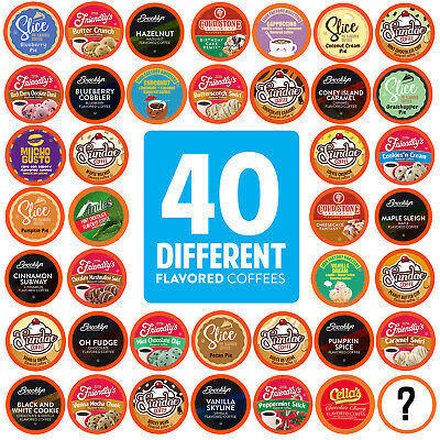 Two Rivers Flavored Coffee Pods Variety Pack for Keurig K-Cup Makers 40 Count