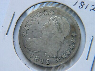 1812 Capped Bust Silver Half Dollar Fine Detail