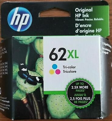 HP #62XL Color Ink Cartridge C2P07AN NEW GENUINE