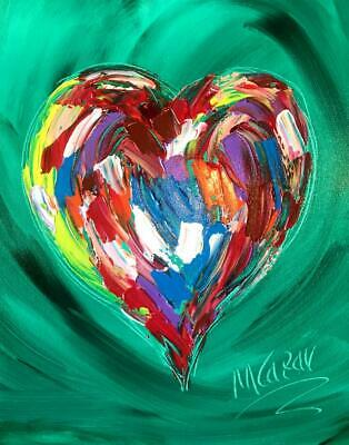 HEARTS ART  Abstract Oil Painting   Original Canvas MADE  BY KAZAV IN CANADA