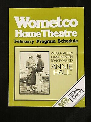 1977 Feb *Annie Hall-Allen/Keaton* Wometco Home Theater Program Schedule (As)