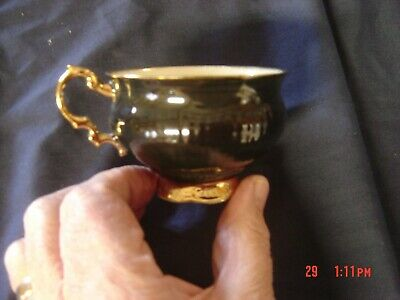 Vintage Elizabethan English Fine Bone China Cup with Gold Trim
