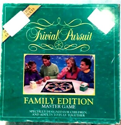 TRIVIAL PURSUIT Family Edition Master Game #6046 1992 Kids & Adults