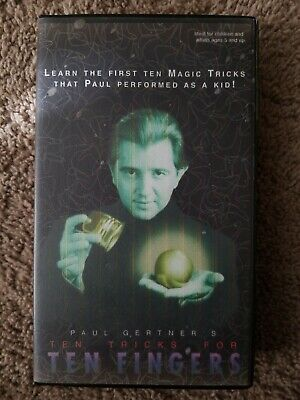 Paul Gertner Ten tricks for Ten fingers RARE Magic VHS