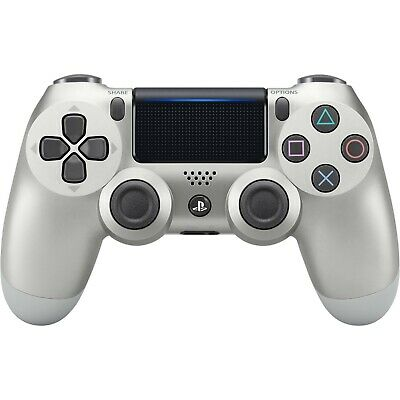 Dual Shock Bluetooth Gamepad Wireless Controller for PS4 PlayStation Silver box
