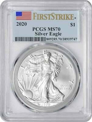 2020 $1 American Silver Eagle MS70 First Strike PCGS