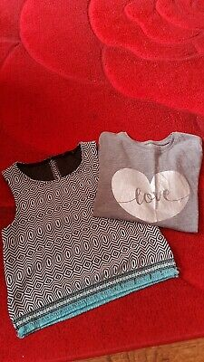 Girls tops age 9-10 years one from Primark other from candy couture grey, black