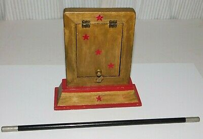 Vintage Magician Disappearing Playing Card Box Magic Trick