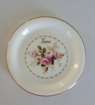 Vintage Royal Albert Flower Of The Month June Plate Roses Coaster Dish
