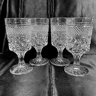 """Wexford Water Goblets Set of 4 Clear 10 oz 6-5/8"""" Tall Anchor Hocking Glass"""