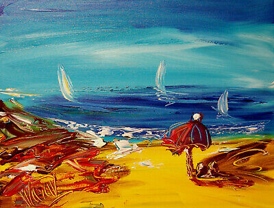 SEASCAPE Mark Kazav  Abstract Modern CANVAS Original Oil Painting  CANADIAN ART