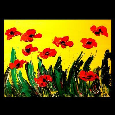 FLOWERS  Mark Kazav  Abstract Modern CANVAS Original Oil Painting  CANADIAN ART