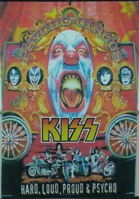 Poster fabric Sroll 31 x 42 : MUSIC: KISS - PSYCHO CIRCUS