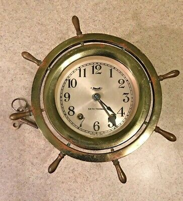 Vintage Seth Thomas Maritime Ships Bell Clock As Is