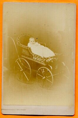 Providence, RI, Portrait of Baby in Carriage, by Brownell, 1882 Backstamp