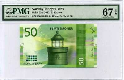 2018 P 53 NEW COLOR DESIGN UNC NORWAY 50 KRONER 2017
