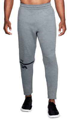 Nwt Under Armour Ua Mens Mk1 Terry Tech Tapered Gray Sweat Pants Size L Msrp $55