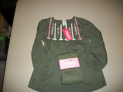 NWT Gymboree~~Girl Detective~~Green Swing Top & Solid Green Leggings~~Size 5