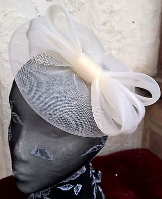 ivory cream fascinator millinery burlesque wedding hat ascot race bridal party