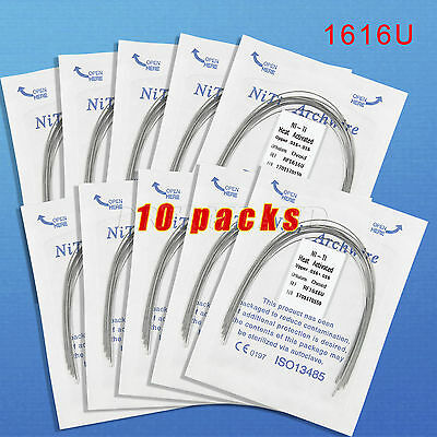 10 Dental Orthodontic Heat Thermal Activated Niti Rectangular Arch Wire 16*16U D