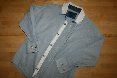 Boys Blue Pinstripe Shirt, Age 8 from BlueZoo