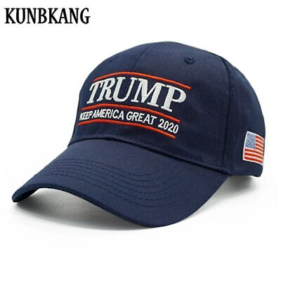 New President Donald Trump Hat 2020 USA Flag Baseball Cap Keep America Great Sna