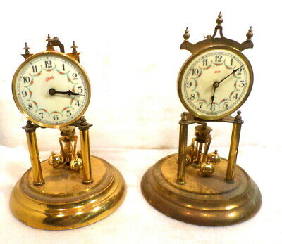 2 Vintage German Kundo And Schatz 400 Day Anniversary Clocks