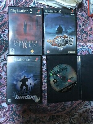Lotto 4 giochi ps2 PlayStation forbidden siren , clock tower 3 , ghost hunter..