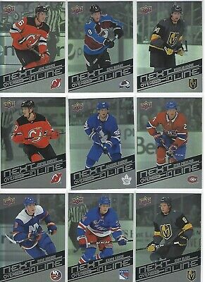 2019-20 19-20 Ud Overtime Next In Line 9 Cards Lot: J.hughes-Makar-Glass-Poehlin