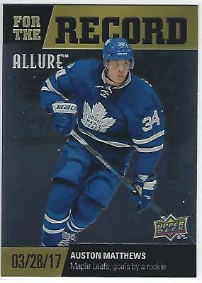 2019-20 19-20 Ud Allure For The Record Auston Matthews # Fr-5