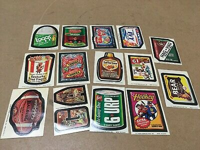Vintage Lot Of 14 Wacky Packages Trading Cards Topps