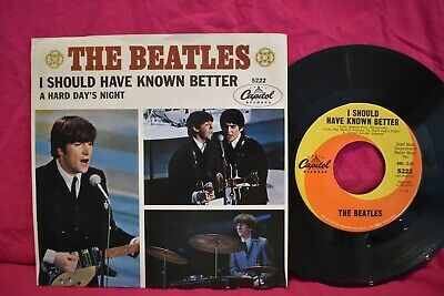 The Beatles 'A Hard Day's Night/I Should Have Known Better 45