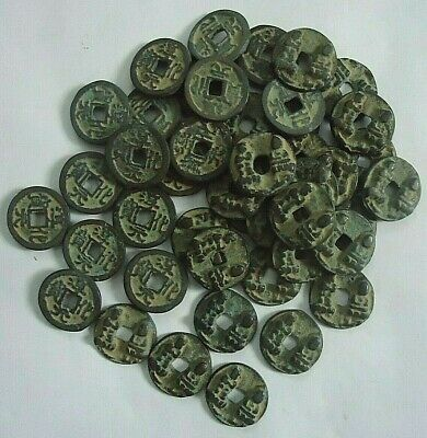 5pcs Chinese Bronze Coin China Old Dynasty Antique Currency Cash