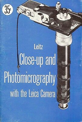 1950s LEICA LEITZ CAMERA CLOSE-UP & PHOTOMICROGRAPHY EQUIPMENT GUIDE MANUAL