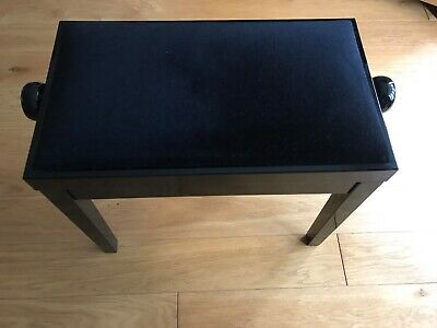 Piano Stool Height Adjustable gloss black in nice condition