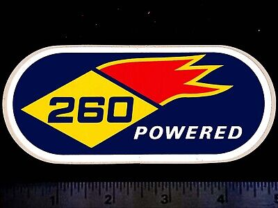 SUNOCO 260 Powered - Original Vintage 1960's 70's Racing Decal/Sticker