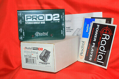 Radial Pro D2 Stereo Direct Box, 2 Channel DI for Keyboards & more