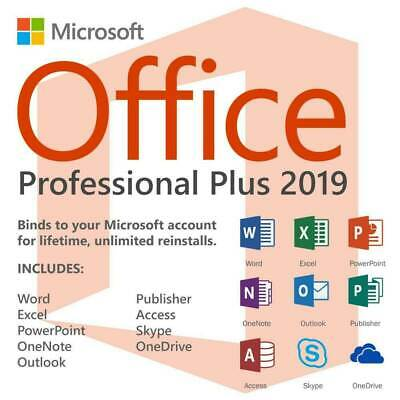 Microsoft Office 2019 Professional Plus Download and Key32/64 ✅Instant delivery