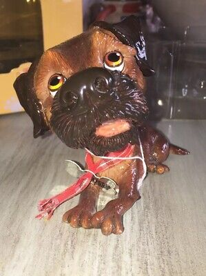 LITTLE PAWS Border Terrier Terri Figurine dog  #LP008