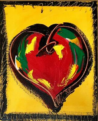 HEARTS  Painting Original Canvas Wall Decor  Proudly Canadian Made ART IMPASTO