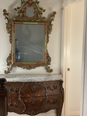 Eastlake Style Mirrored Wall Rack,Candle Holders,Towel Bar,1870's
