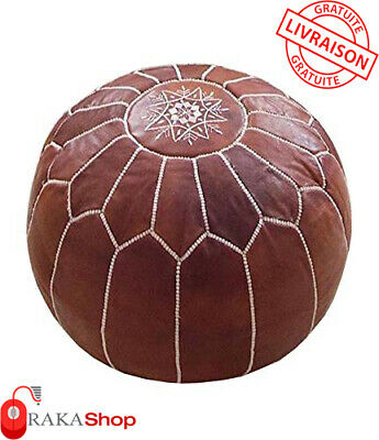 Genuine Leather Pouf Leather Boho Ottoman Footstool chairs,living room