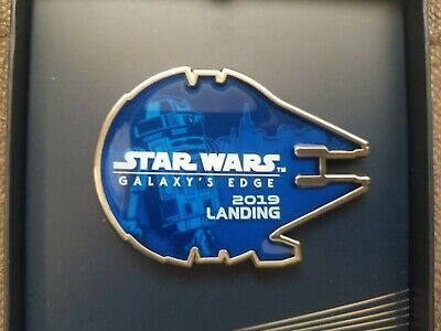 Disneyland Star Wars Galaxy's Edge Millennium Falcon Opening Day Jumbo Pin & Map