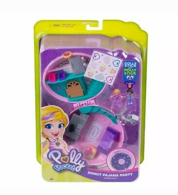 Polly Pocket Donut Pajama Party Micro Playset with 2 Figures