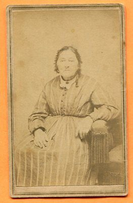 CDV Hackettstown, NJ, Portrait of a Woman, by Percival, circa 1860s Backstamp