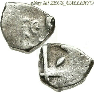 VOLCAE TECTOSAGES Celtic Coin 100 BC Gallic Celts. Ancient Greek Silver Drachm