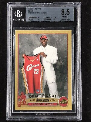 LeBron James 2003 Topps Gold #221 Rookie Card /99 BGS 8.5 RC MVP GOAT SUPER RARE