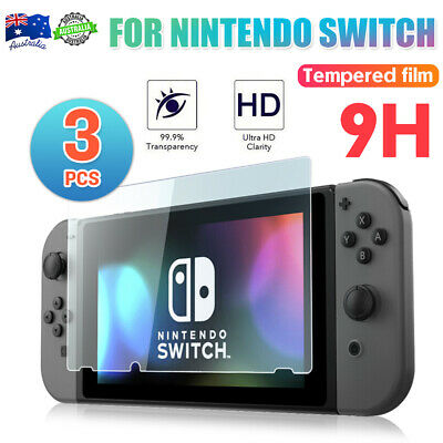 3Pcs Nintendo Switch Screen Protector 9H Slim Tempered Glass Cover Film AU FAST